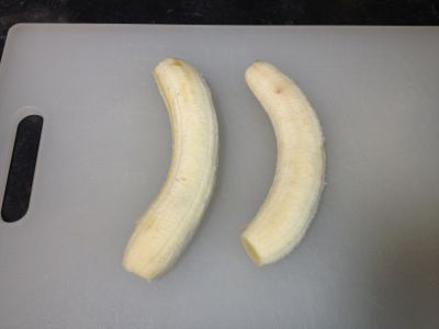 peeled bananas