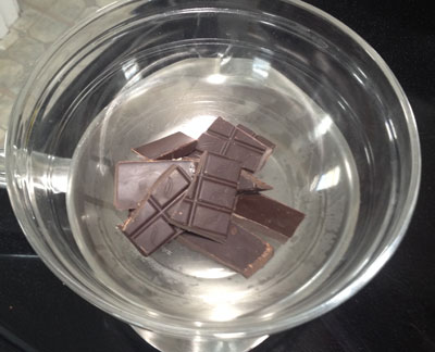 chocolate in double boiler