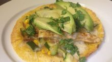chicken veggie tostadas