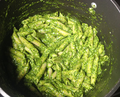 pesto in the pot