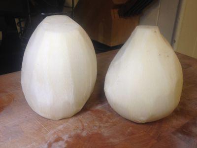 peeled turnips