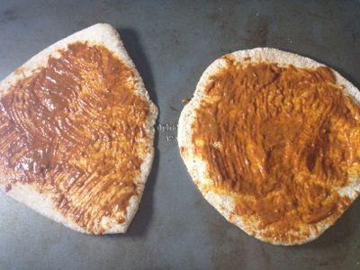sauced pitas