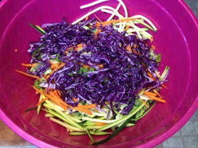 shredded veggies