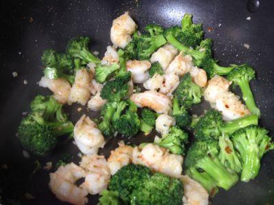 sauteed broccoli and shrimp