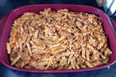 sauced pasta