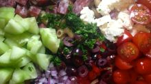 Mediterranean pasta salad #realfood